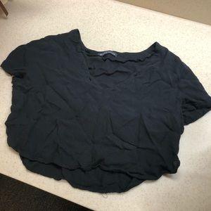 Brandy black crop top! One size